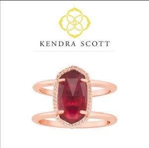 💜Kendra Scott💓(7) Elyse Berry Glass Ring